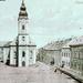 1905 - Kubínyiho námestie v strede s katolíckym kostolom